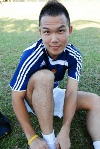John Yeong football training